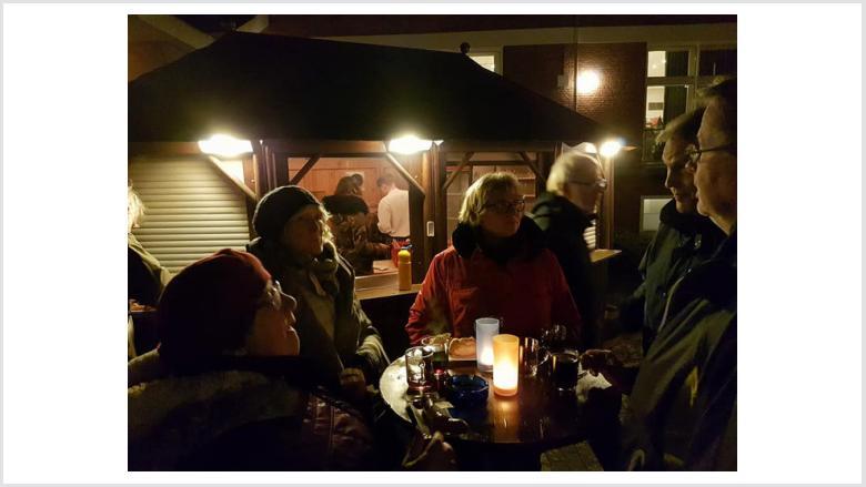 Advents Grill- und Klönabend wieder gut besucht